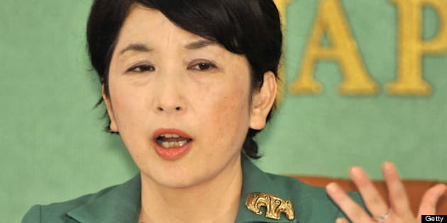 Japan's State Minister in charge of consumer affairs, declining birthrate, food safety and gender equality Mizuho Fukushima, who is leader of the Social Democratic Party (SDP) leader, speaks before press in Tokyo on October 14, 2009.  Fukushima insisted Japan's Prime Minister Yukio Hatoyama keep his pledge to remove the US military base from Okinawa, saying: 'I will work hard and maintain opposition to building a new base.'    AFP PHOTO / Yoshikazu TSUNO (Photo credit should read YOSHIKAZU TSUNO/AFP/Getty Images)