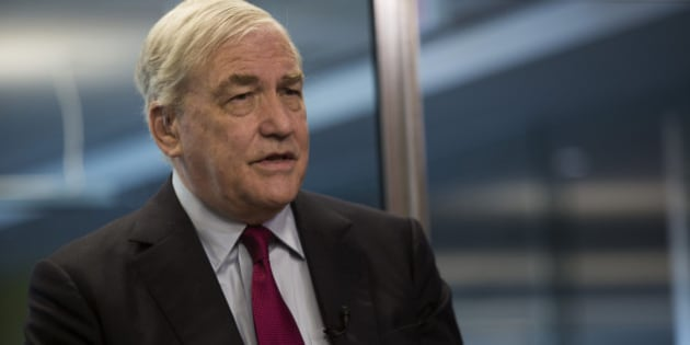 Conrad Black, former chief executive officer of Hollinger Inc., speaks during an interview in Toronto, Ontario, Canada, on Wednesday, July 31, 2013. Black, a Canadian-born former newspaper publisher, was convicted of three counts of fraud and one count of obstruction of justice in a U.S. court in 2007. Photographer: Brent Lewin/Bloomberg via Getty Images