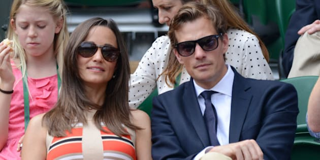 LONDON, ENGLAND - JULY 05:  Pippa Middleton and Nico Jackson attend Day 11 of the Wimbledon Lawn Tennis Championships at the All England Lawn Tennis and Croquet Club on July 5, 2013 in London, England.  (Photo by Karwai Tang/WireImage)