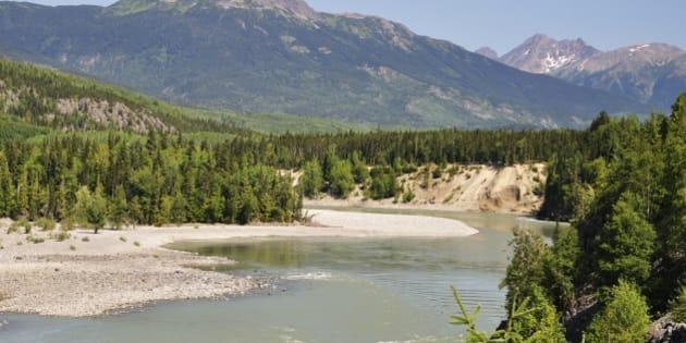 Skeena River and Kitimat Ranges, British Columbia, Canada, North America