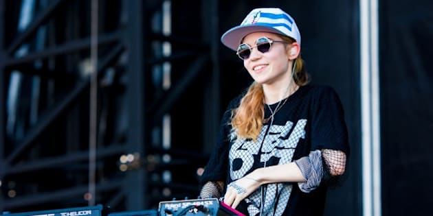 PHILADELPHIA, PA - JUNE 1: Grimes performs at the 6th Annual Roots Picnic at the Festival Pier June 1, 2013 in Philadelphia, Pennsylvania. (Photo by Jeff Fusco/Getty Images)