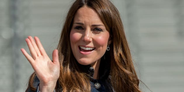 GLASGOW, UNITED KINGDOM - APRIL 4: Catherine, Countess of Strathearn waves to wellwishers as she visits the Emirates Arena on April 4, 2013 in Glasgow, Scotland. (Photo by Samir Hussein/WireImage)