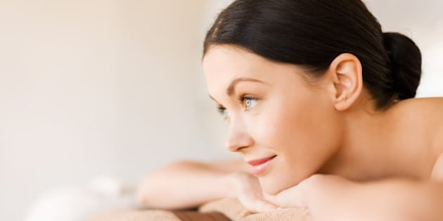 picture of woman in spa salon...