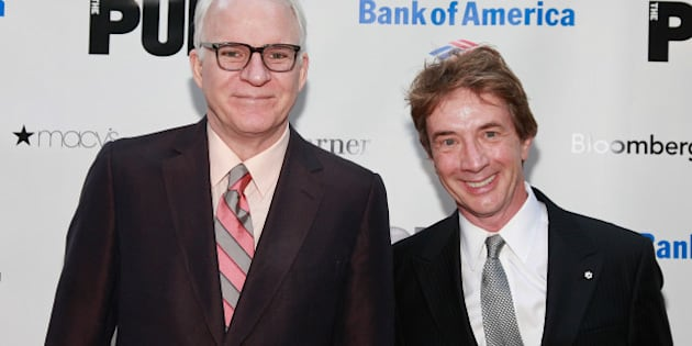 NEW YORK, NY - JUNE 20:  Actors Steve Martin and Martin Short attend the 2011 Shakespeare In The Park Gala at the Delacorte Theater on June 20, 2011 in New York City.  (Photo by Charles Eshelman/FilmMagic)