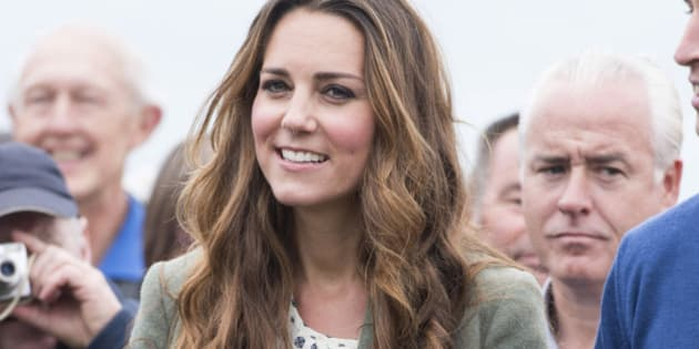 HOLYHEAD, WALES - AUGUST 30:  Catherine, Duchess of Cambridge starts The Ring O'Fire Anglesey Coastal Ultra Marathon on August 30, 2013 in Holyhead, Wales.  (Photo by Mark Cuthbert/UK Press via Getty Images)