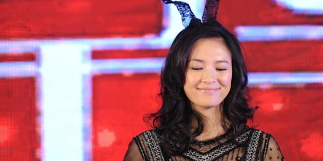 BEIJING, CHINA - AUGUST 29:  (CHINA OUT) Chinese actress Zhang Ziyi poses as she attends 'My Lucky Star' press conference on August 29, 2013 in Beijing, China.  (ChinaFotoPress via Getty Images)