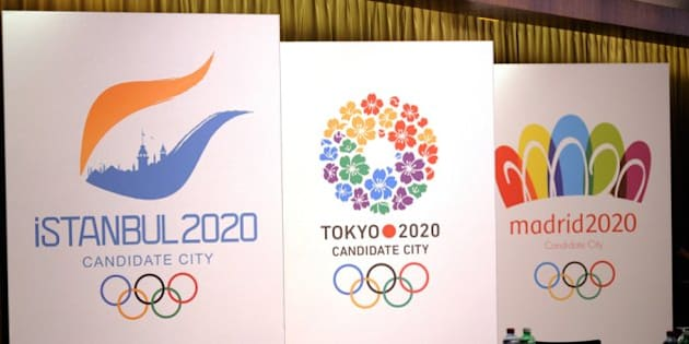 LAUSANNE, SWITZERLAND -JULY 3:  Signs of Istanbul 2020, Tokyo 2020 and Madrid 2020 are pictured during the IOC 2020 Candidate Cities Briefing on July 3, 2013 in Lausanne, Switzerland. (Photo by Daniel Kopatsch/Getty Images)
