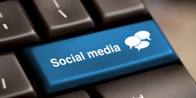 social media button on a...