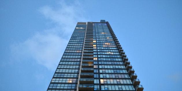 TORONTO, ON - APRIL 20:  A view of a condo building in Toronto.        (Carlos Osorio/Toronto Star via Getty Images)