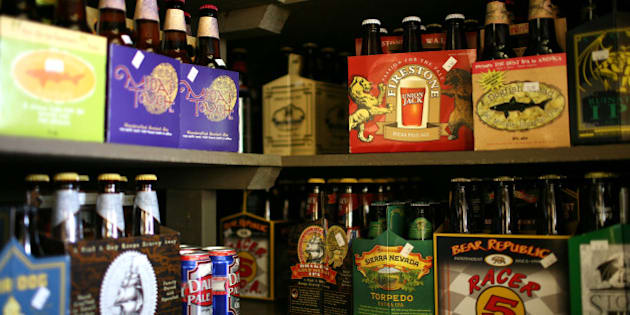 SAN FRANCISCO - MAY 20:  Six packs and single bottles of beer are displayed on a shelf at the City Beer Store May 20, 2009 in San Francisco, California. Federal lawmakers are considering an increase on tax paid for beer, wine, liquor and sugary sodas to help fund health insurance for an estimated 50 million uninsured Americans. Under the proposal, taxes on beer would be increased by 48 cents a six-pack.  (Photo by Justin Sullivan/Getty Images)