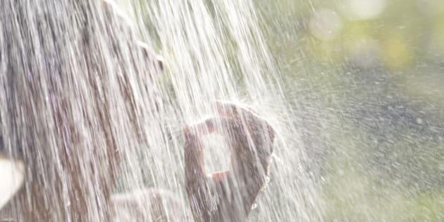 Asia, Bali, Begawan Giri, Como Shambhala Estate, Outdoor shower