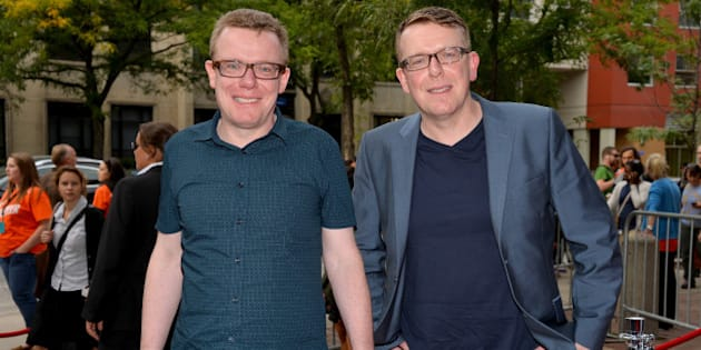 TORONTO, ON - SEPTEMBER 09:  The Proclaimers: Craig Reid and Charlie Reid arrive at 'Sunshine On Leith' Premiere during the 2013 Toronto International Film Festival  at Ryerson Theatre on September 9, 2013 in Toronto, Canada.  (Photo by Amanda Edwards/WireImage)