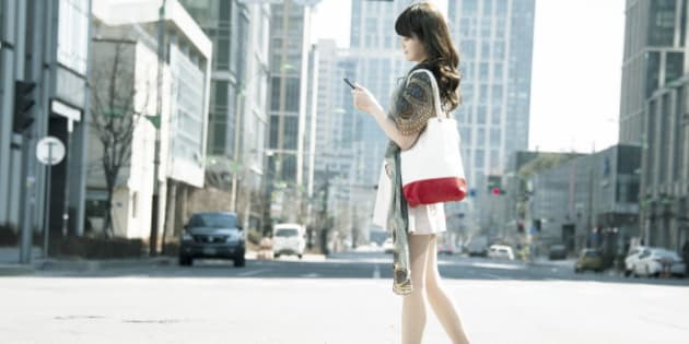 Women who are using smart phones
