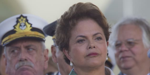 BRASILIA, BRAZIL - APRIL 19: Brazilian President Dilma Rousseff, participates of the celebration of the Army Day on April 19, 2011 in Brasilia, Brazil. This date remember the first fight of Brazilians against the Dutch in 1648. (Photo by Dorivan Marinho/LatinContent/Getty Images)
