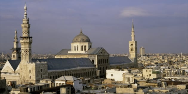 City skyline including Omayyad mosque and souk, UNESCO World Heritage Site, Damascus, Syria, Middle East