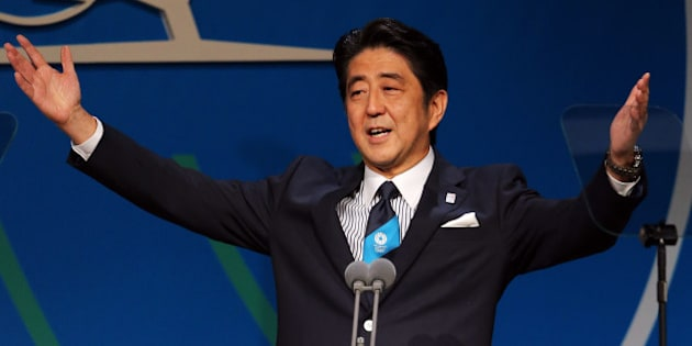 BUENOS AIRES, ARGENTINA - SEPTEMBER 07:  Prime Minister Shinzo Abe speaks during the Tokyo 2020 bid presentation during the 125th IOC Session - 2020 Olympics Host City Announcement at Hilton Hotel on September 7, 2013 in Buenos Aires, Argentina.  (Photo by Ian Walton/Getty Images)