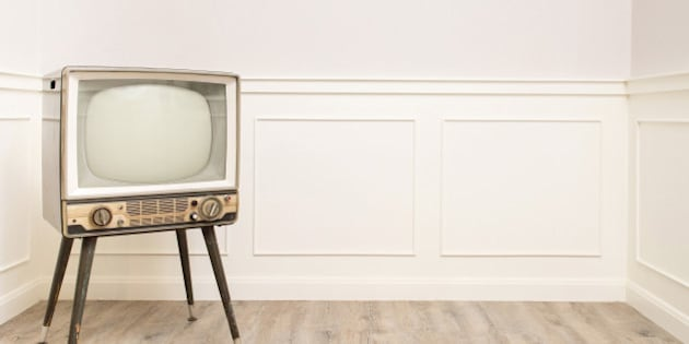 old vintage television in the...