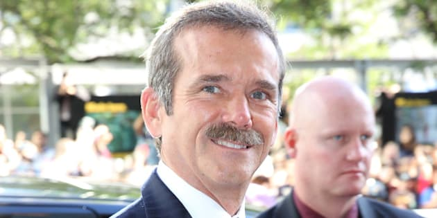 TORONTO, ON - SEPTEMBER 08:  Astronaut Chris Hadfield attends the 'Gravity' premiere during the 2013 Toronto International Film Festival at Princess of Wales Theatre on September 8, 2013 in Toronto, Canada. (Photo by Ian Blakeman/WireImage)