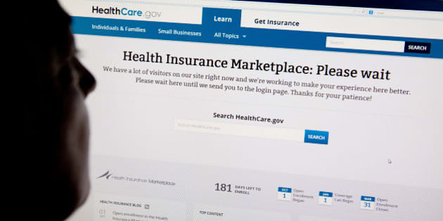 A woman looks at the HealthCare.gov insurance exchange internet site October 1, 2013 in Washington, DC. US President Barack Obama's Affordable Care Act, or Obamacare as it is commonly called, passed in March 2010, went into effect Tuesday at 8am EST. Heavy Internet traffic and system problems plagued the launch of the new health insurance exchanges Tuesday morning. Consumers attempting to log on were met with an error message early Tuesday due to an overload of Internet traffic. AFP PHOTO / Karen BLEIER        (Photo credit should read KAREN BLEIER/AFP/Getty Images)