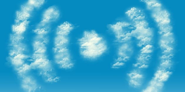 wifi cloud shape
