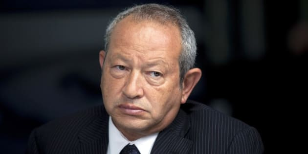 Egyptian billionaire Naguib Sawiris pauses during a Bloomberg Television interview in London, U.K., on Thursday, May 24, 2012. Sawiris said he'd be willing to sell his Telekom Austria AG stake to Carlos Slim's America Movil SAB if the Austrian government is uncooperative. Photographer: Simon Dawson/Bloomberg via Getty Images