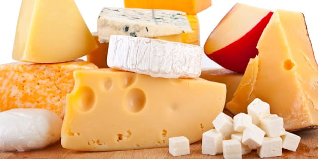 various types of cheese...