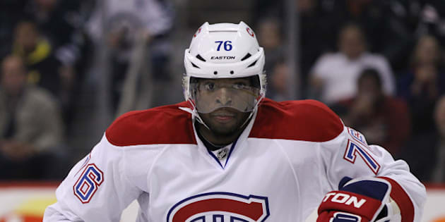 WINNIPEG, MB - OCTOBER 15: P.K. Subban #76 of the Montreal Canadiens keeps his eyes on the play as he skates during second period action in an NHL game against the Winnipeg Jets at the MTS Centre on October 15, 2013 in Winnipeg, Manitoba, Canada. (Photo by Marianne Helm/Getty Images)