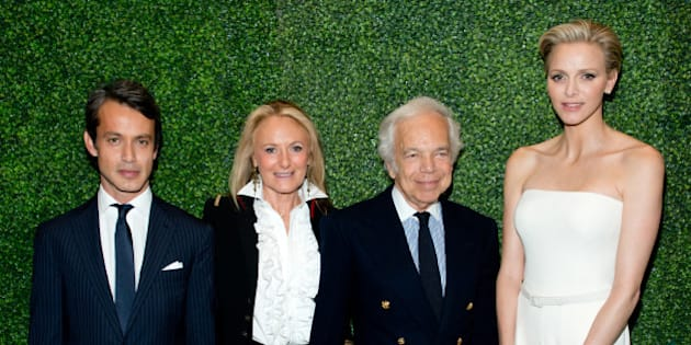 NEW YORK, NY - OCTOBER 28:  (L-R) Andrew Lauren, Ricky Lauren, Ralph Lauren and Princess Charlene of Monaco attend the 'To Catch A Thief' RALPH LAUREN screening celebrating the PRINCESS GRACE FOUNDATION at The Museum of Modern Art on October 28, 2013 in New York City.  (Photo by Noam Galai/WireImage)