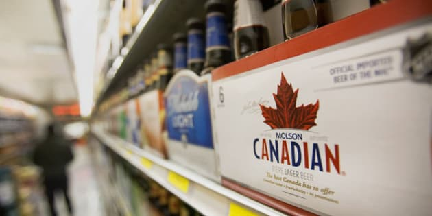 A six pack of Molson Coors Brewing Co. Canadian beer is displayed for sale at a supermarket in New York, U.S., on Monday, Nov. 5, 2012. Molson Coors Brewing Co. is scheduled to release earnings data on Nov. 7. Photographer: Scott Eells/Bloomberg via Getty Images