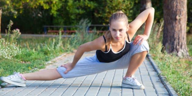 an attractive female runner...