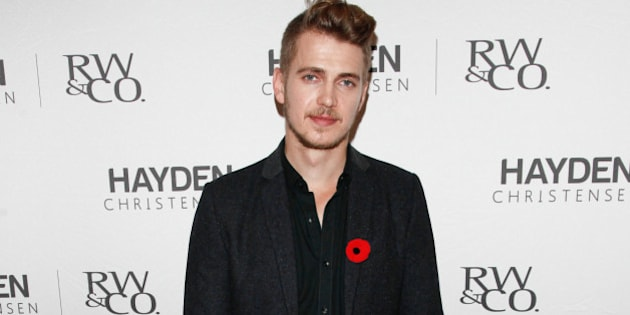 TORONTO, ON - OCTOBER 30:  Actor Hayden Christensen attends the launch of his RW&CO clothing line at Toronto Eaton Centre on October 30, 2013 in Toronto, Canada.  (Photo by George Pimentel/WireImage)