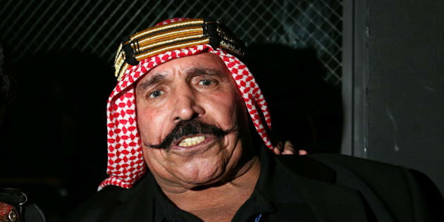 NEW YORK, NY - OCTOBER 23:  Iron Sheik attends the 2013 GQ Gentlemen Give Back Concert with Robin Thicke at Highline Ballroom on October 23, 2013 in New York City.  (Photo by Neilson Barnard/Getty Images for GQ)