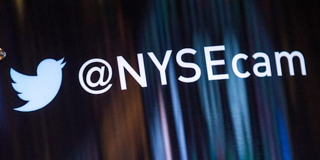 NEW YORK, NY - NOVEMBER 06:  The Twitter logo is seen on the floor of the New York Stock Exchange on the afternoon of November 6, 2013 in New York City. Twitter launches its IPO tomorrow. The Dow Jones Industrial Average closed at an all-time record high today of over 15,000 points.  (Photo by Andrew Burton/Getty Images)