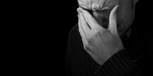 sadness  man crying black and...