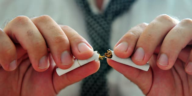 concept photo of a man quitting ...