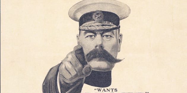 Lord Kitchener WWI recruiting poster.