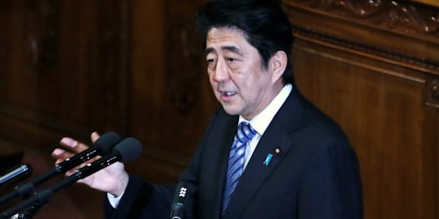 Shinzo Abe, Japan's prime minister, delivers his policy speech at the lower house of Parliament in Tokyo, Japan, on Tuesday, Oct. 15, 2013. Abe pledged to create a virtuous circle of higher employment and spending and to boost Japans role in global security, while giving few details on measures to spur investment and competitiveness.