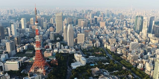 TOKYO, JAPAN - SEPTEMBER 12:  Aerial view of the Tokyo Tower on September 12, 2013 in Tokyo, Japan. Tokyo was selected as the site of the 2020 Olympics.  (Photo by Atsushi Tomura/Getty Images)