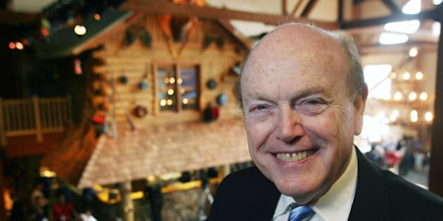 CANADA - APRIL 13:  Jimmy Pattison, chairman and chief executive officer of the Jim Pattison Group, poses for a photo in the lobby of the new Great Wolf Lodge hotel and amusement park in Niagara Falls, Ontario, Canada on April 13, 2006.  (Photo by Norm Betts/Bloomberg via Getty Images)