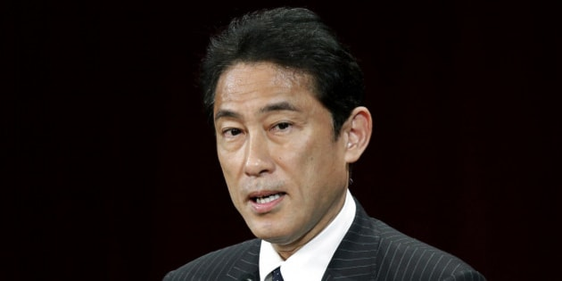 Fumio Kishida, Japan's foreign minister, delivers a speech during the Future Of Asia conference in Tokyo, Japan, on Thursday, May 23, 2013. The Future of Asia Conference runs from May 23 to 24. Photographer: Kiyoshi Ota/Bloomberg via Getty Images