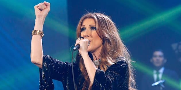 PARIS, FRANCE - NOVEMBER 25:  Singer Celine Dion performs at Palais Omnisports de Bercy on November 25, 2013 in Paris, France.  (Photo by Bertrand Rindoff Petroff/Getty Images)