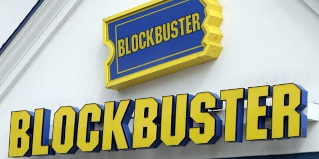 A Blockbuster sign on a store is seen in Barre, Vt., Wednesday, Sept. 22, 2010. Troubled video-rental chain Blockbuster Inc. filed for Chapter 11 bankruptcy protection, and said Thursday, Sept. 23, it plans to keep stores and kiosks open as it reorganizes. (AP Photo/Toby Talbot)
