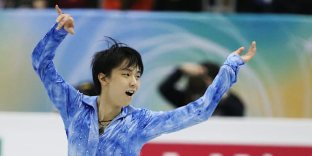 FUKUOKA, JAPAN - DECEMBER 05:  Yuzuru Hanyu of Japan competes in the men's short program during day one of the ISU Grand Prix of Figure Skating Final 2013/2014 at Marine Messe Fukuoka on December 5, 2013 in Fukuoka, Japan.  (Photo by Atsushi Tomura/Getty Images)