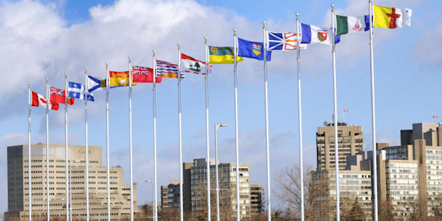 canadian and provinces flags  ...