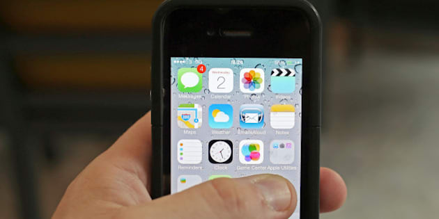 A general view of an Iphone running iOS7.