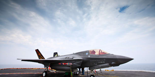 AT SEA - AUGUST 28: Joint Strike Fighter F-35 Lightning II on the deck of USS Wasp on August 28, 2013 at sea off the coast of Virginia. (Photo by Simon M Bruty/Any Chance Productions/Getty Images)