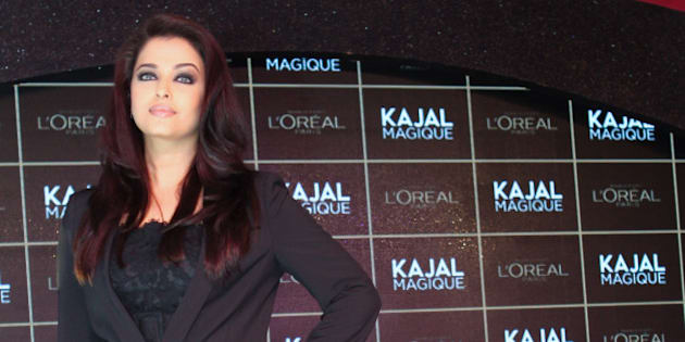 MUMBAI, INDIA - DECEMBER 19:  Aishwarya Rai Bachchan launches Kajal Magique by L'Oréal Paris on December 19, 2013 in Mumbai, India.  (Photo by Chirag Wakaskar/WireImage)