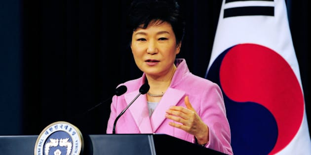 SEOUL, SOUTH KOREA - JANUARY 06:  South Korean President Park Geun-Hye speaks during a press conference at the Presidential Office on January 6, 2014 in Seoul, South Korea. Park outlined her policy plans for the new year.  (Photo by Kim Min-Hee-Pool/Getty Images)