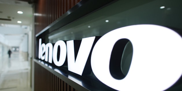 WUHAN, CHINA - DECEMBER 19:  (CHINA OUT) A Lenovo's logo is seen at the Lenovo MIDH (Mobile Internet and Digital Home) Wuhan Operation Center on December 19, 2013 in Wuhan, China. The plant will mainly produce Lenovo smart phones and tablet computers with an initial capacity of 30 million units a year.  (Photo by ChinaFotoPress/ChinaFotoPress via Getty Images)
