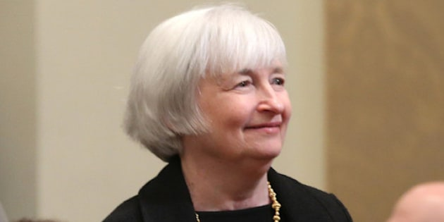 WASHINGTON, DC - DECEMBER 16: Federal Reserve Vice Chairman Janet Yellen attends the Federal Reserve centennial commemoration at the Federal Reserve building, on December 16, 2013 in Washington, DC. The Federal Reserve marked its one hundred anniversary with commemoration ceremony with former, current and future chairmans.  (Photo by Mark Wilson/Getty Images)